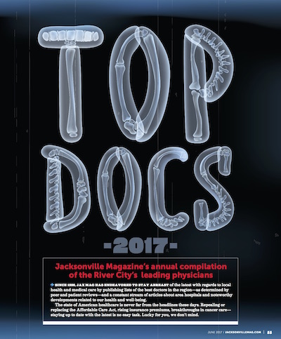 Jacksonville Magazine Top Docs Article with Dr. Jeremy Mirabile of Recovery Keys